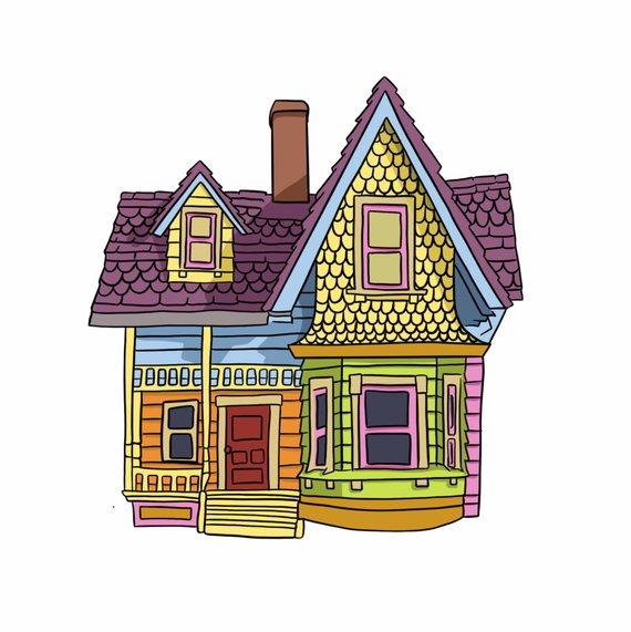 Colorful House Digital File Em 2020 Desenhos Vintage Balao