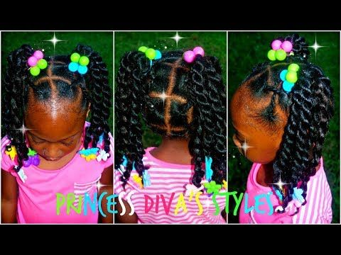 Pooh Gets A Style Like Big Sister Crochet Ponytails Kids 3c 4c Hair Kids Crochet Hairstyles Kids Hairstyles Little Girl Ponytails