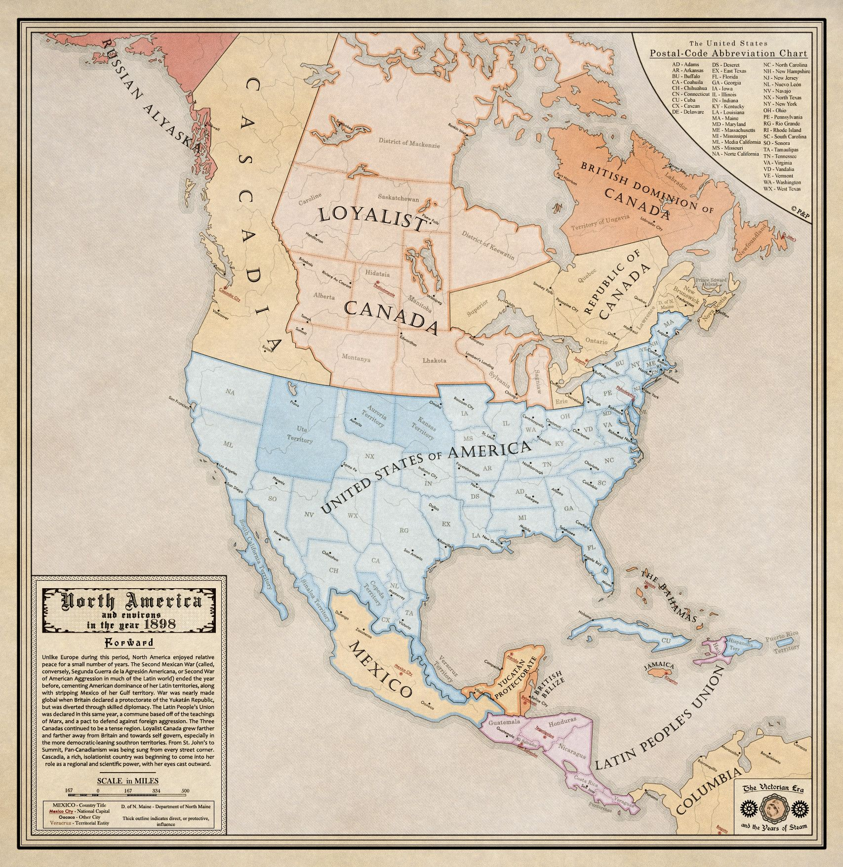 Alternate history maps of america alternate history history and alternate history maps of america gumiabroncs Choice Image