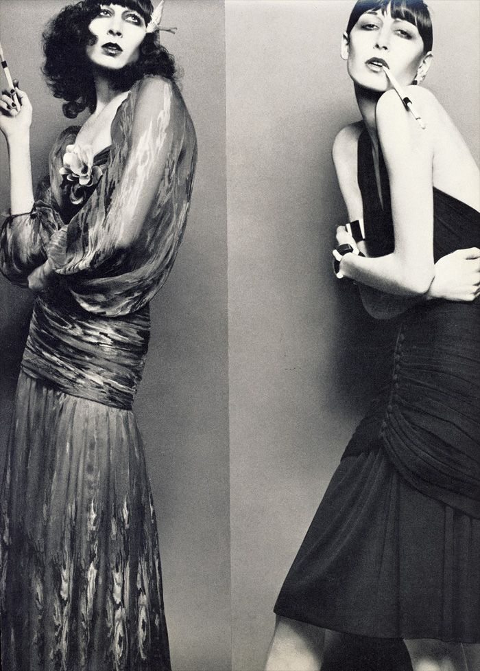 A young Anjelica Huston in the pages of Vogue.
