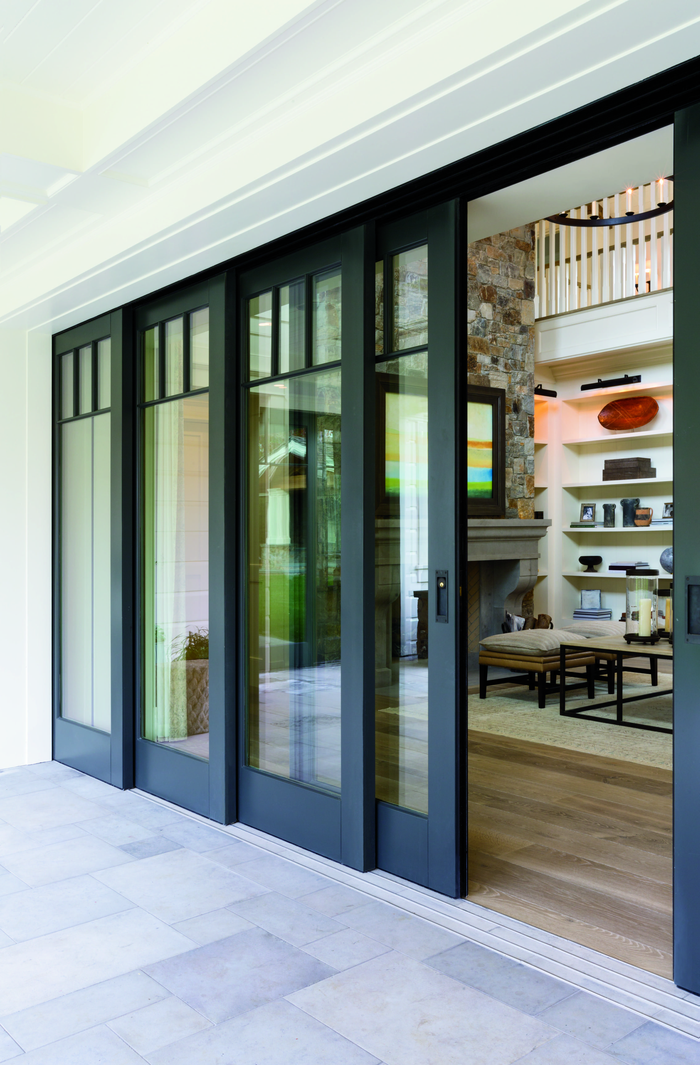 Embrace the view with pella architect series multi slide for Multiple sliding glass doors