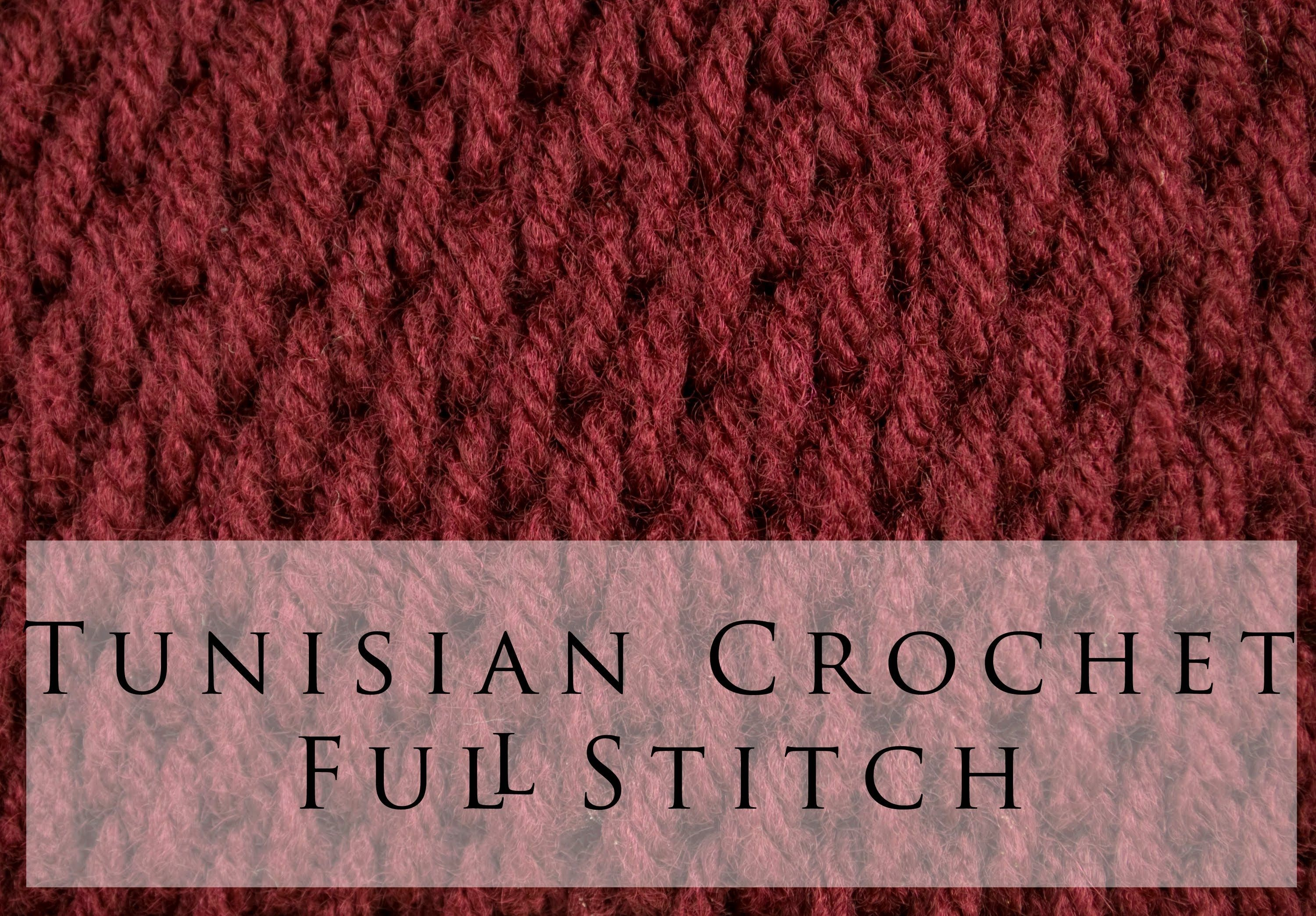 Tunisian Crochet Full Stitch, the other side has a rib in it, could ...