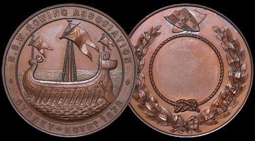 Historic Medallion From 1878 To Mark The Australian Inter