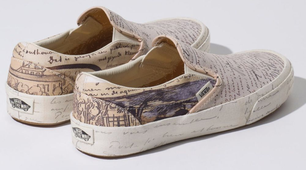 eb7b297a0b84f9 Details about Vans x Vincent Van Gogh Museum Authentic Slip-On SK8 ...