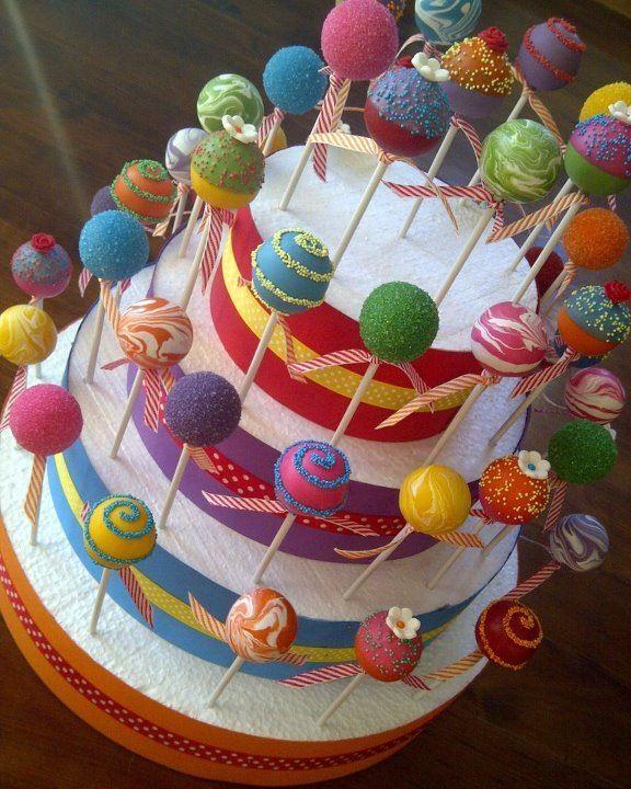 Incredible Geniale Idee Wie Du Deine Cakepops Stilvoll Als Torte Anrichtest Funny Birthday Cards Online Alyptdamsfinfo