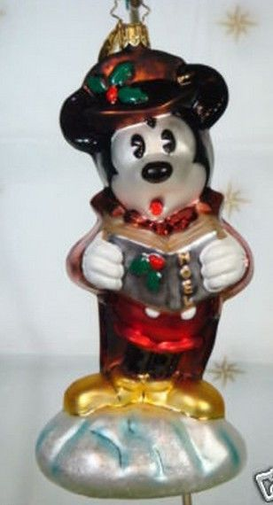 rAdko~99-DIS-06~Caroler Mickey~Mouse~Retired Radko Disney Exclusive~NWT