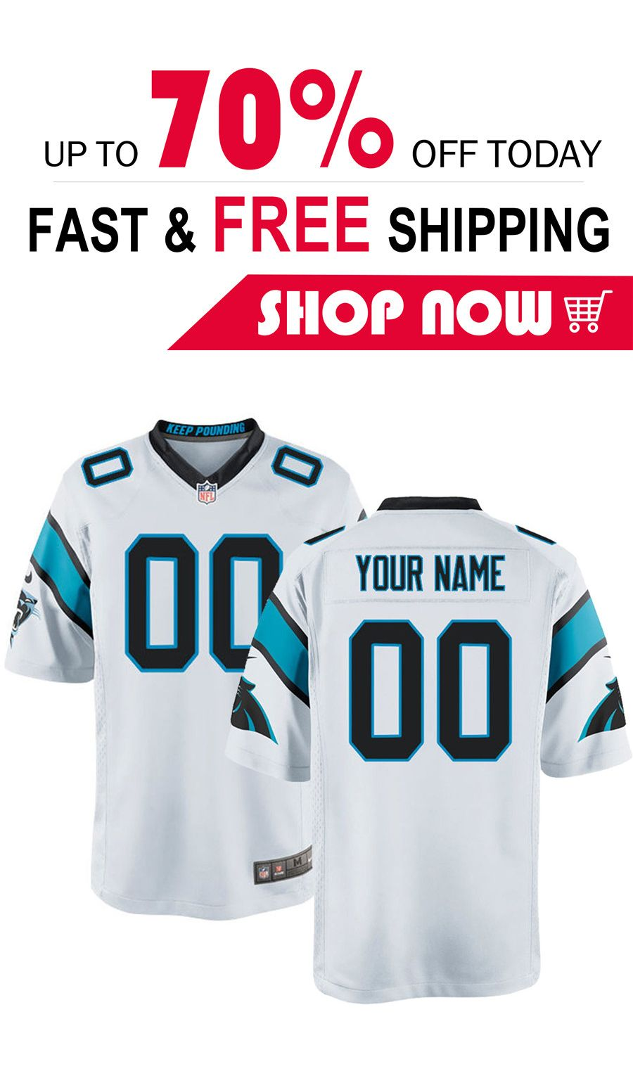 finest selection 975ce 12134 Carolina Panthers football custom Game jersey | Watches in ...
