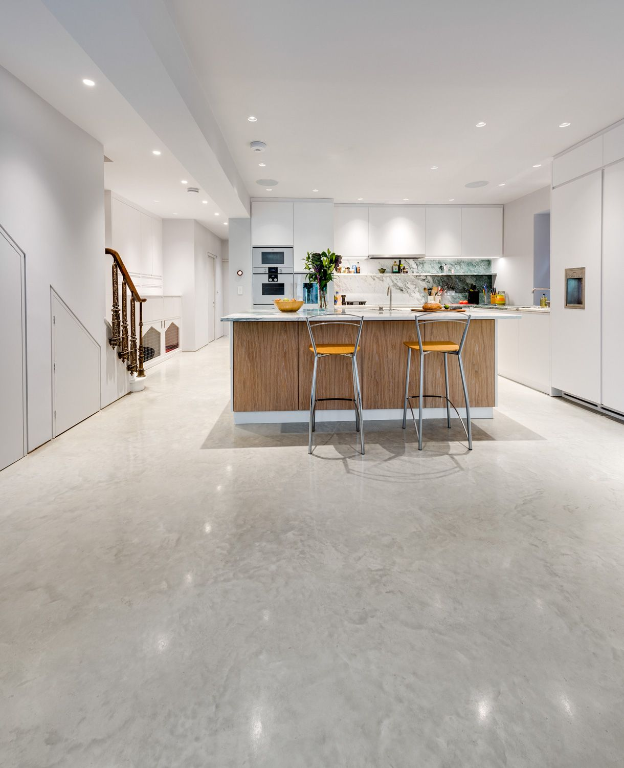 Polished Concrete Floor Kitchen Concrete Doesnt Have To Be Grey This Oyster White Lazenby