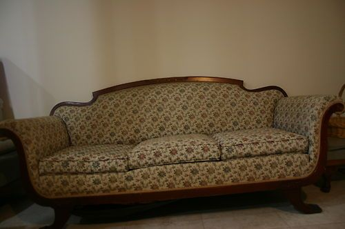 1929 Antique Victorian Style Parlor Sofa Couch Chaise Ebay 100 00