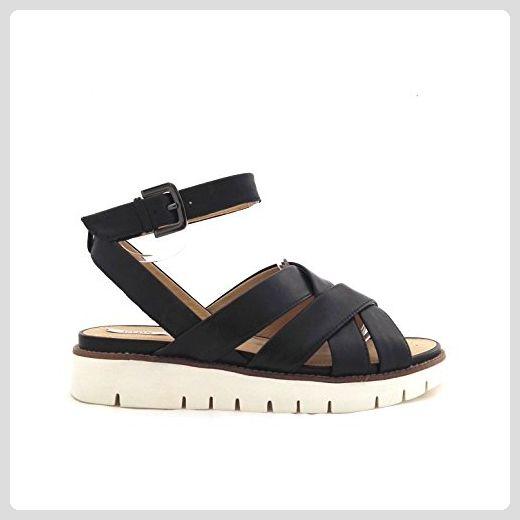 F, Damen Sandalen, Schwarz - Schwarz - Größe: 38