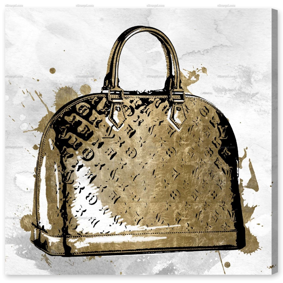Lv gold by oliver gal gold canvas gold art print