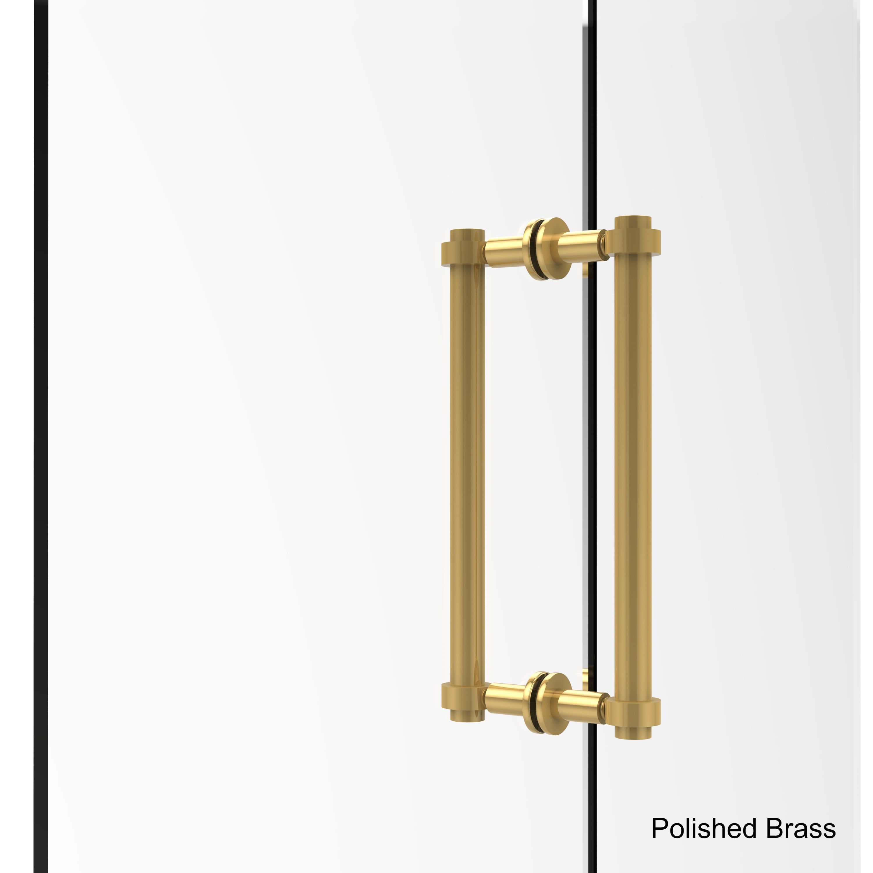 Allied Brass 12 Inch Back To Back Shower Door Pull Polished