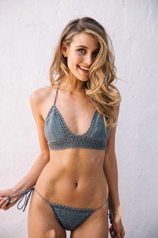 She Made Me 2016 || Essential bralette bikini top in slate