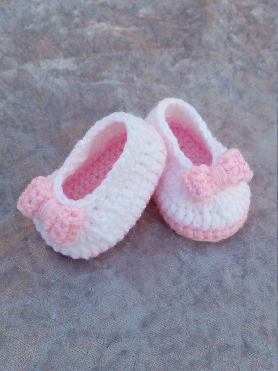 Baby girl crochet ballerina slippers baby girl shoes baby slippers ...