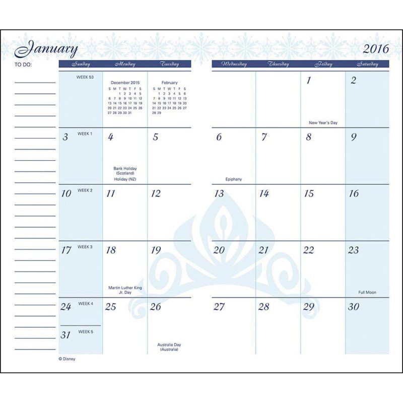 Printable Pocket Monthly Calendar