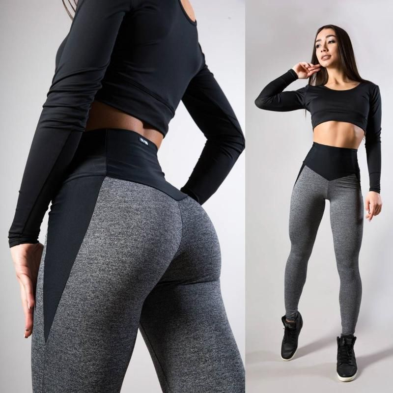 Autumn And Winter Patchwork Thick Fitness Leggings#autumn #fitness #leggings #patchwork #thick #wint...
