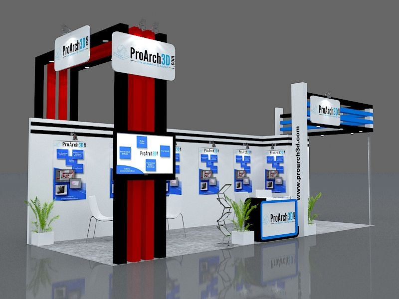 3d Exhibition Stall : Exhibition stall d model free stands pinterest