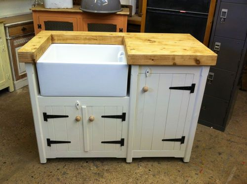 Handmade Freestanding Rustic Country Farmhouse Butler Belfast Kitchen Sink Unit Ebay Kitchen Sink Units Laundry Room Inspiration Sink Units