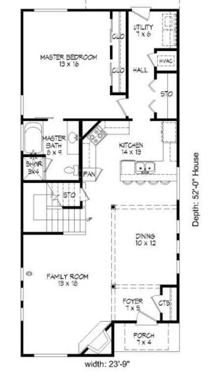Plano planta baja casa de dos pisos y 3 dormitorios planos pinterest house plans cottage - Planos de casas de planta baja ...