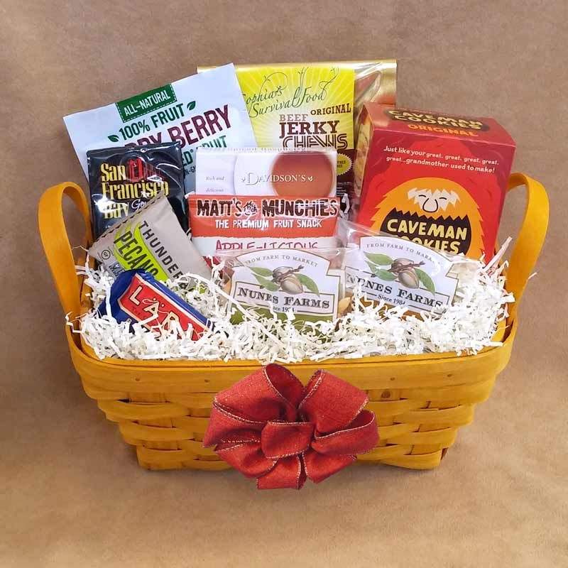 Our deluxe paleo gift basket basket features a variety of tasty send a healthy gift for any occasion our gifts are gluten free soy free peanut free and dairy free negle Choice Image