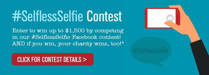 There is a little time left to get in on the #SelflessSelfie contest.  What is it?  Check the link.  Up to $3000 in prize money, definitely time to click the link.  #CharityTuesday http://www.rosenthalauto.com/SelflessSelfie_Contest.cfm