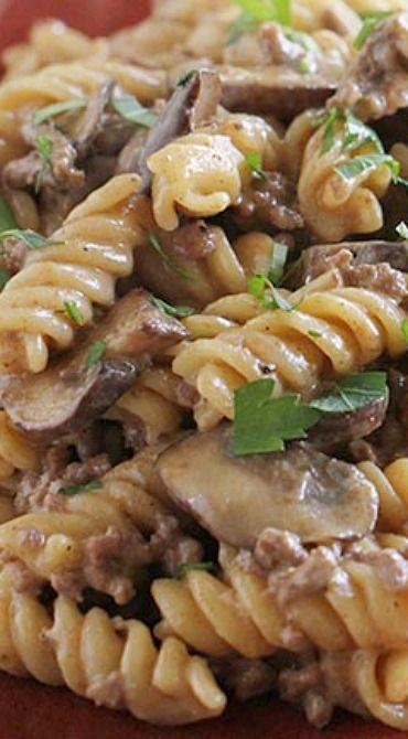 Easy One Pot Ground Beef Stroganoff - Taste and Te
