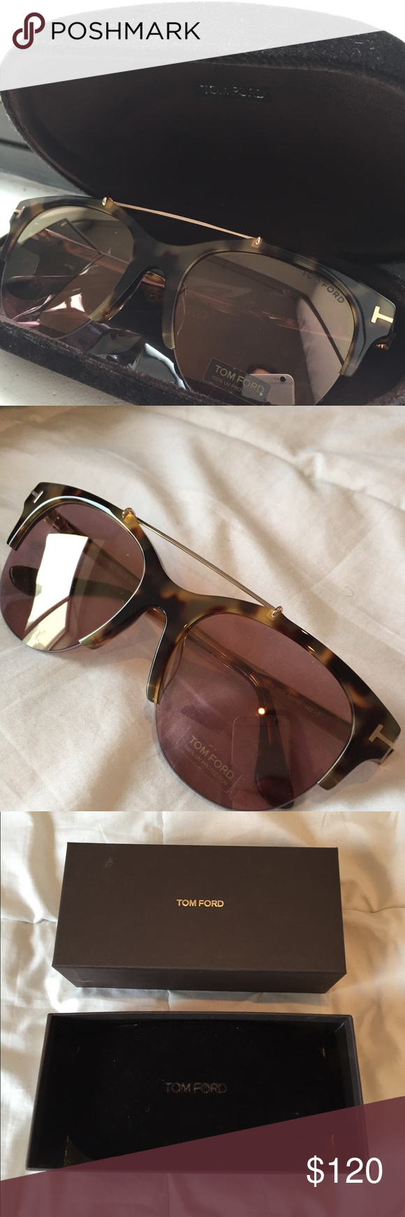 ce1052ecb0333 TOM FORD ADRENNE TORTOISESHELL SUNGLASSES Brown and tan tortoiseshell Tom  Ford Adrenne sunglasses with gradient lenses featuring logo and gold-tone  hardware ...
