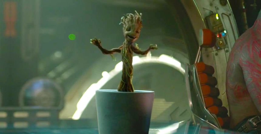 Watch Baby Groot Dancing Scene From Guardians Of The Galaxy
