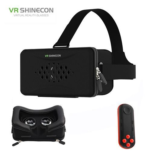 029f1924d0b VR Shinecon Lenses Virtual Reality 3D Glasses Google Cardboard Headset VR  BOX Head Mount for Smartphone 4.7-6