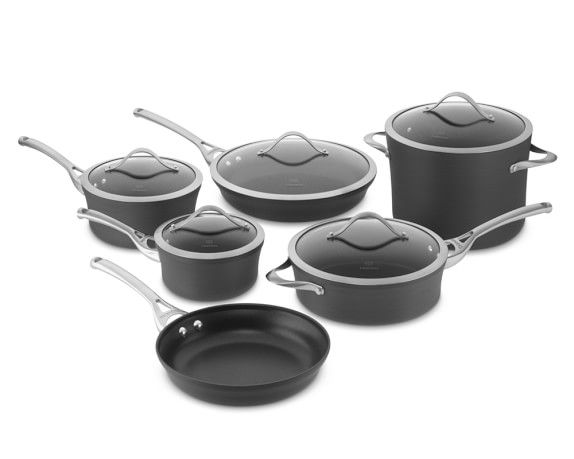 Pin On Kitchen And Dining Calphalon contemporary nonstick 11 piece cookware set