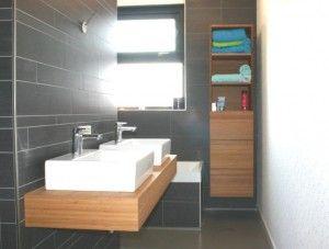 Wandmeubel Voor Badkamer.Bamboe Wastfaleblad En Wandmeubel Badkamer Bathroom Bathroom