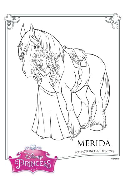 Colorea con Merida | Merida en 2018 | Pinterest | Valiente merida ...