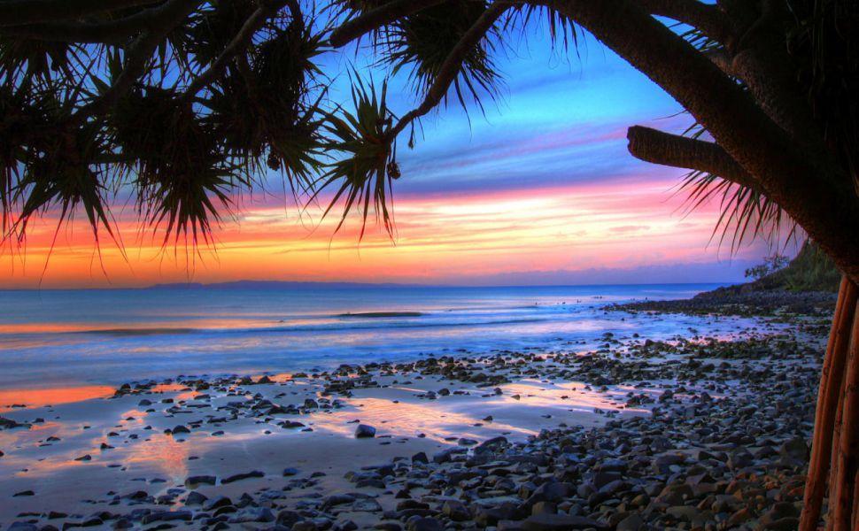 Australia Nature Hd Wallpaper Beach Sunset Wallpaper