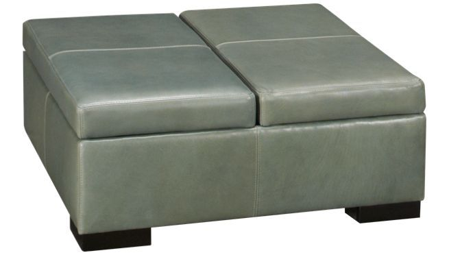 Jonathan Louis - Choices - Leather Accent Storage Ottoman - Chairs and Ottmans at Jordans Furniture in MA, RI and NH