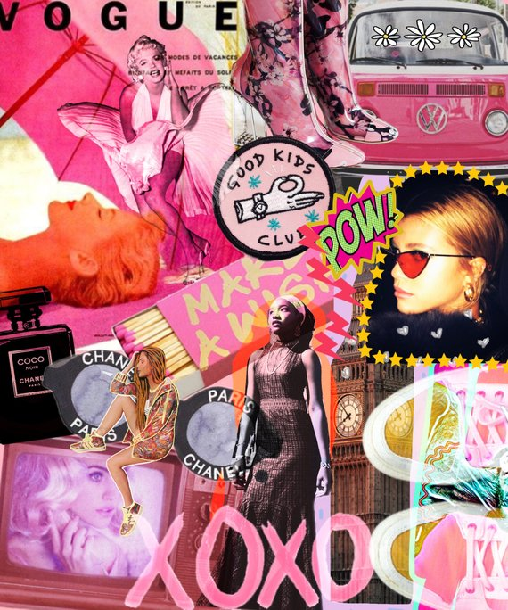 Vogue Collage Print In 2020 Magazine Collage Aesthetic Collage