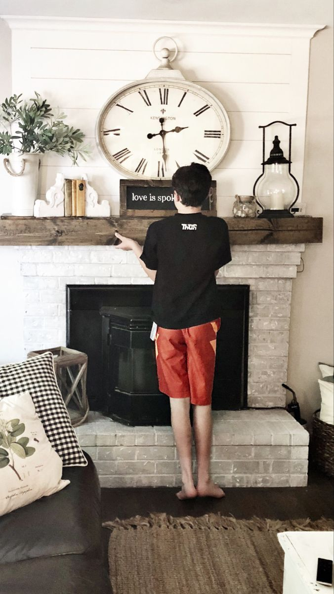How to build a Faux Wood Mantle for 20 in 2020 Wood
