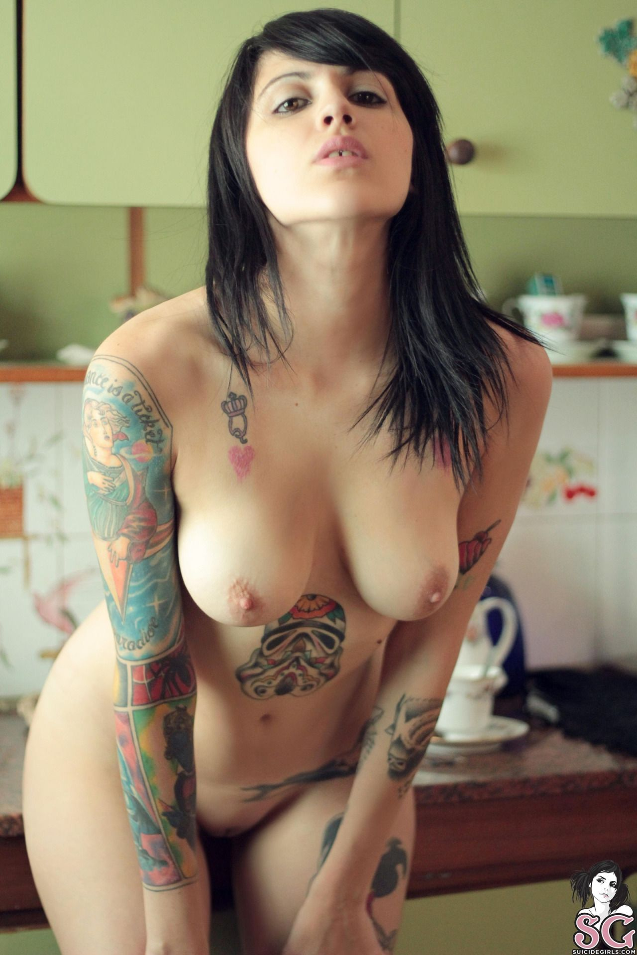 Suicide Girls Beautiful Naked Girls With Tattoos  Hot -6676