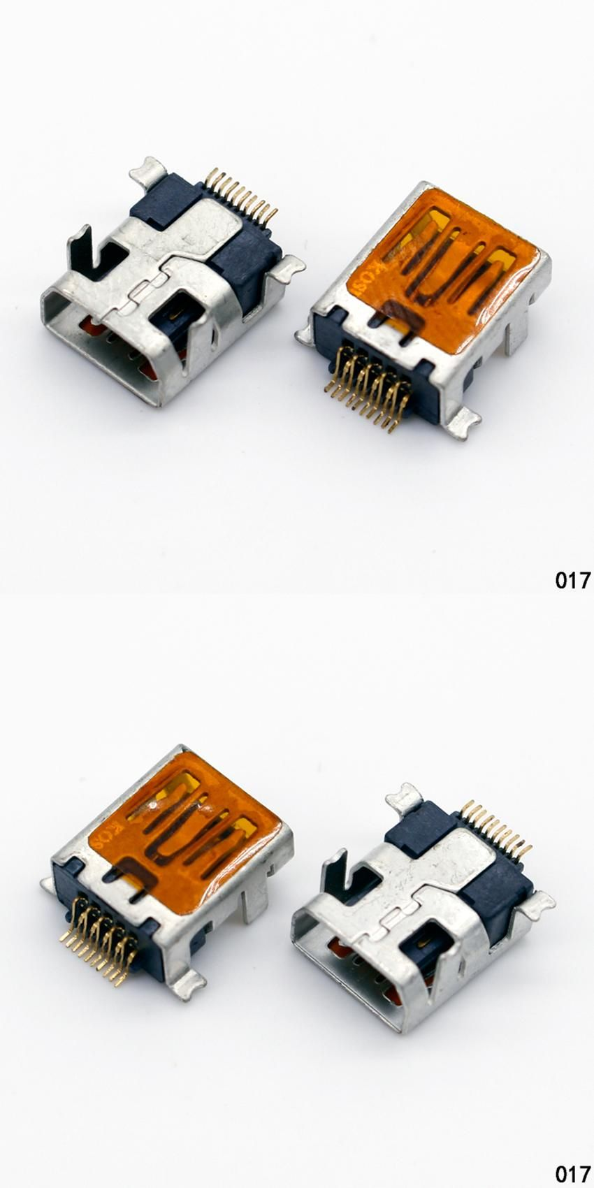 [Visit to Buy] 10 Pcs Female Mini USB Type B 10 Pin SMT SMD DIP Mount Jack Connector #Advertisement