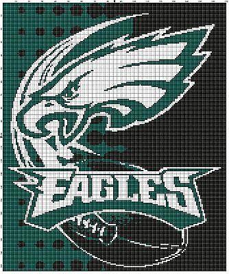 29f2e2d7 Philadelphia Eagles Football Afghan Crochet Graph Pattern By Alta's ...