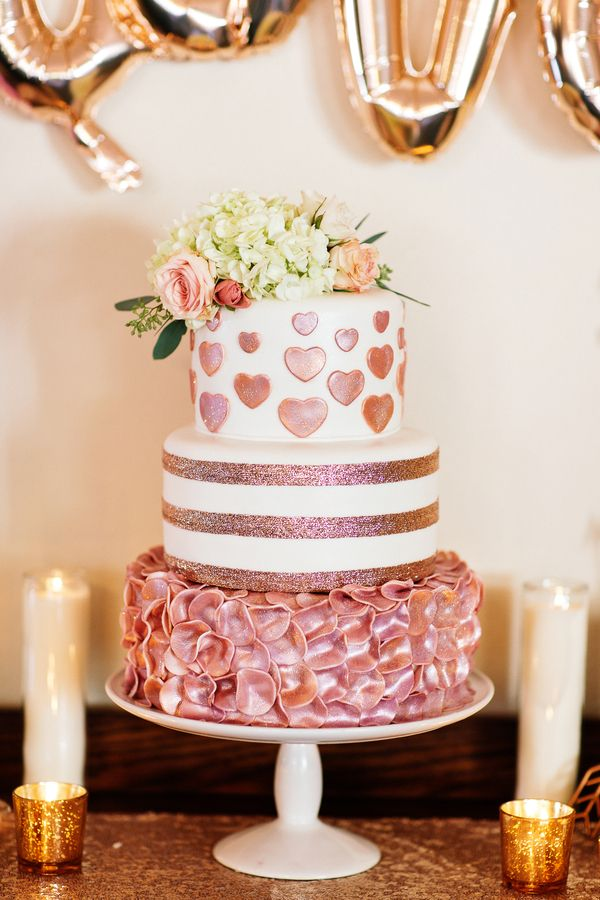 3436df1da Happy Hearts Rose Gold Bridal Shower  BridalShower  ShowerIdeas   BridalShowerIdeas