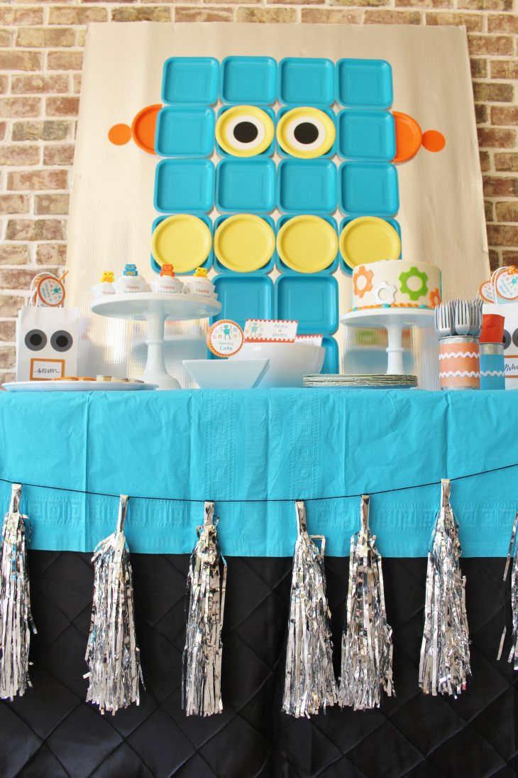 Robot Factory Birthday Party Idea