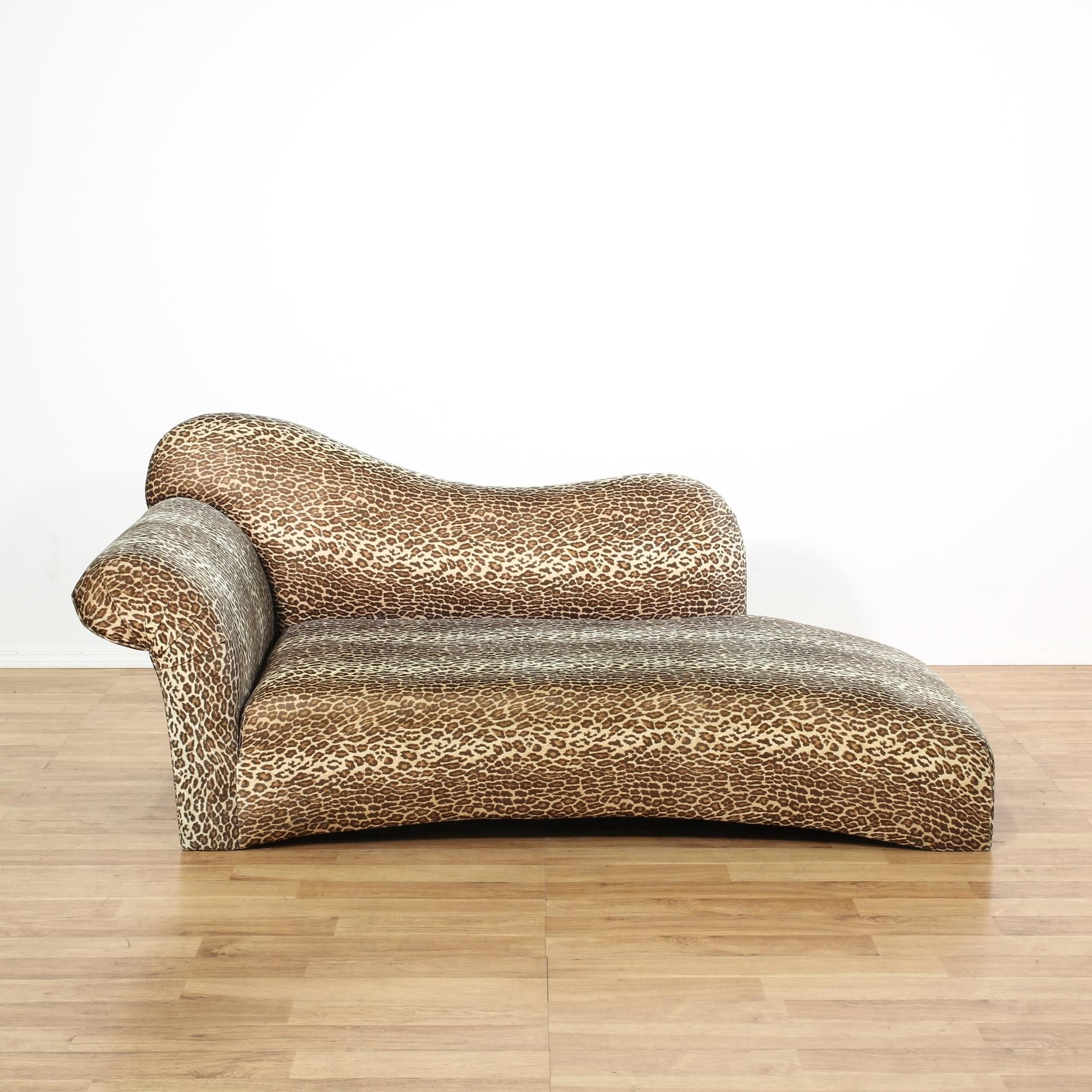 This chaise lounge is upholstered in a fun leopard print. This ... on chaise sofa sleeper, chaise recliner chair, chaise furniture,