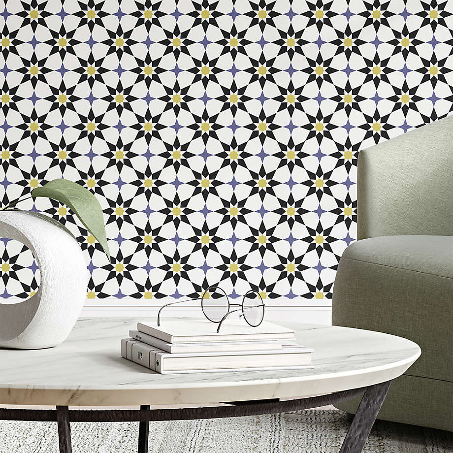 Tempaper Moroccan Spice Soleil Removable Wallpaper Reviews Crate And Barrel Removable Wallpaper Moroccan Tiles Accent Wallpaper