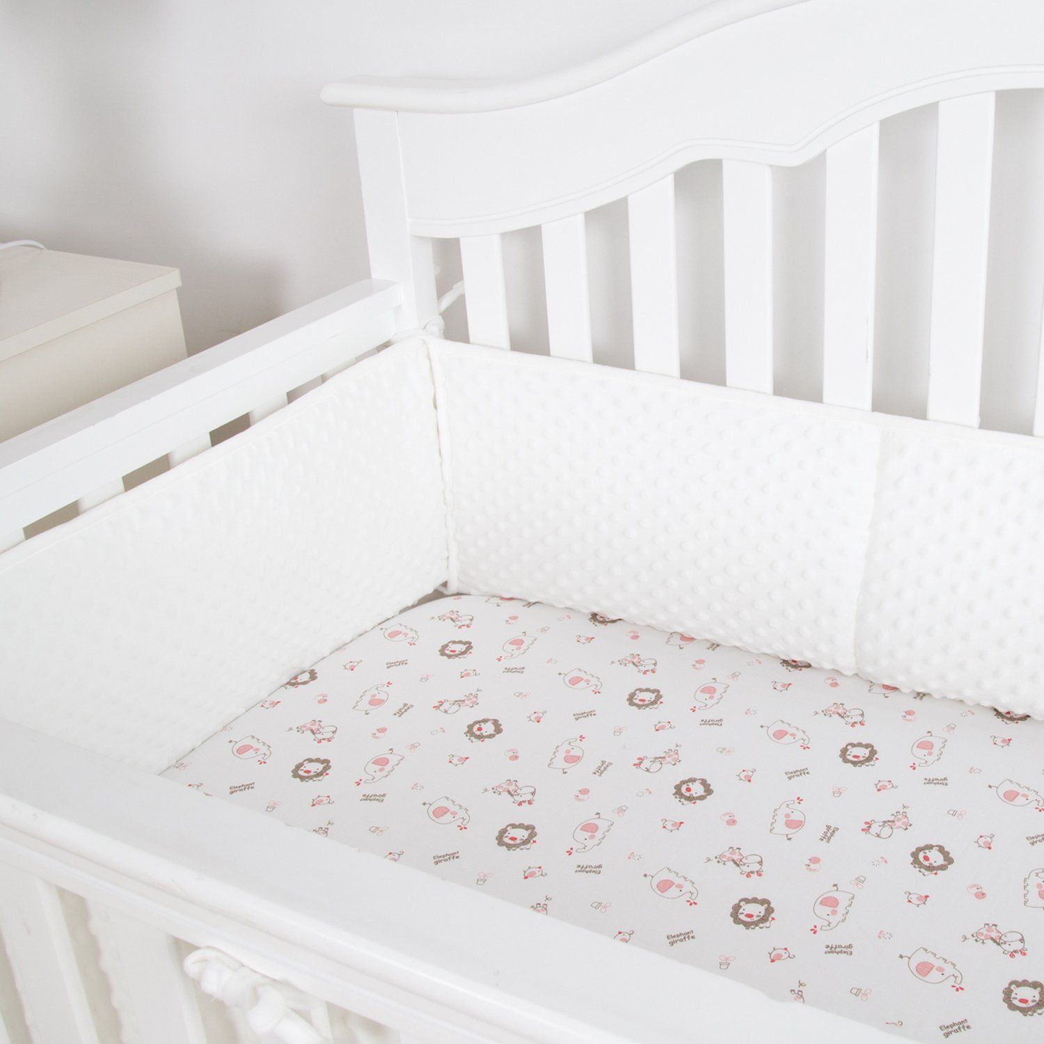 Minky Dot Baby Breathable Crib Bumper Pads Bumper pads