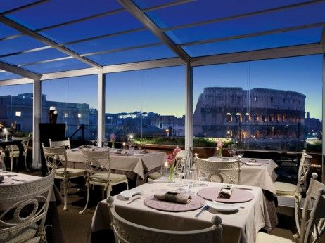 Aroma At Palazzo Manfredi Restaurant With View Of Colosseum Best Restaurants In Rome Rome Hotels Rome Restaurants
