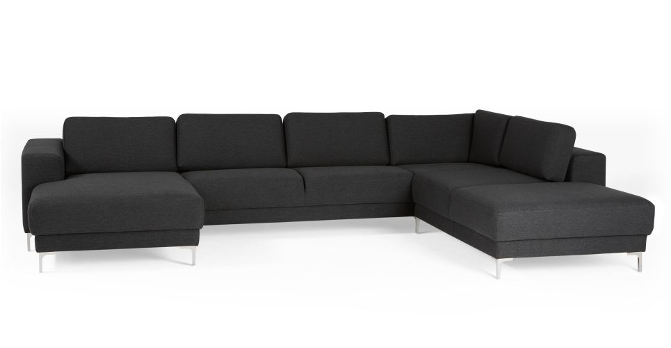 Bartoli Large Corner Unit Sofa in Whistler grey | made.com | L ...