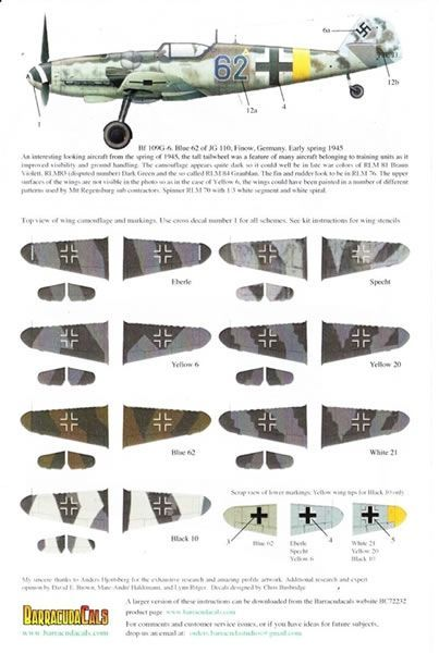 Barracudacals 1 72 Bf 109 G 6 G 14 Pt 1 Decal Review By Mark Davies Image Wwii Fighter Planes Luftwaffe Planes Aircraft Images