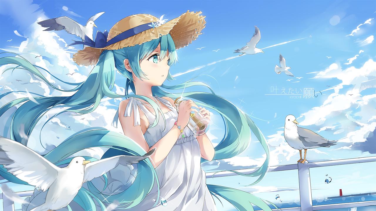 A Wallpaper A Day Hatsune Miku Hatsune Miku Hatsune Vocaloid