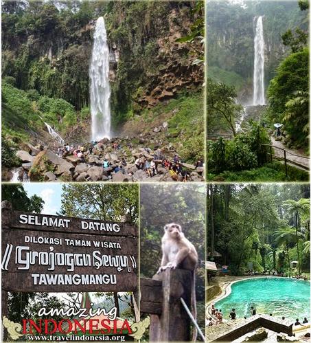Indonesia Foundation Grojogan Sewu Tawangmangu Karanganyar Jawa Tengah Taman Indonesia
