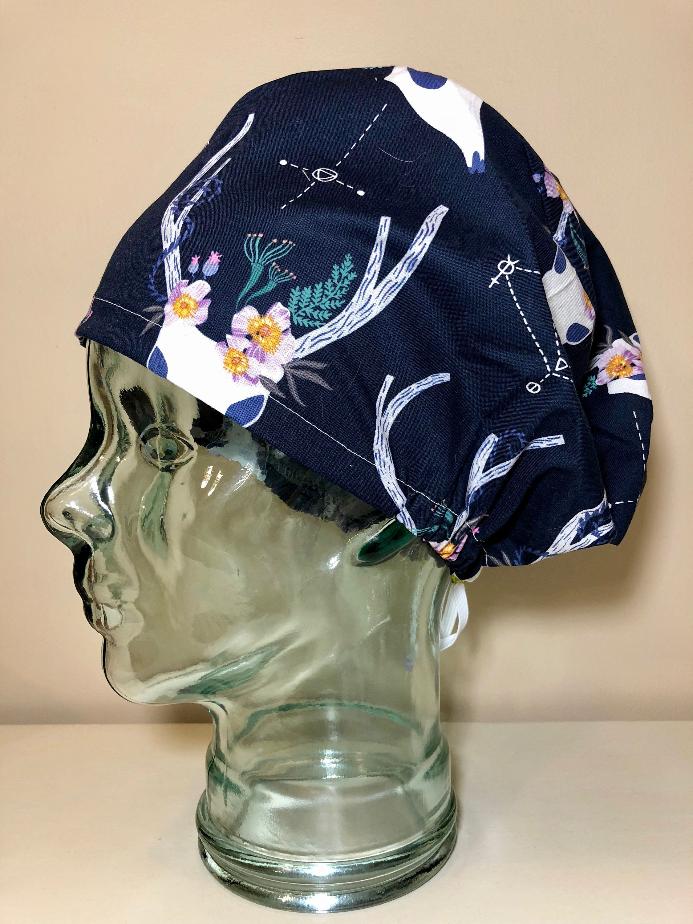 Phantom Deer in Navy Surgical Scrub Hat 289de94ee39